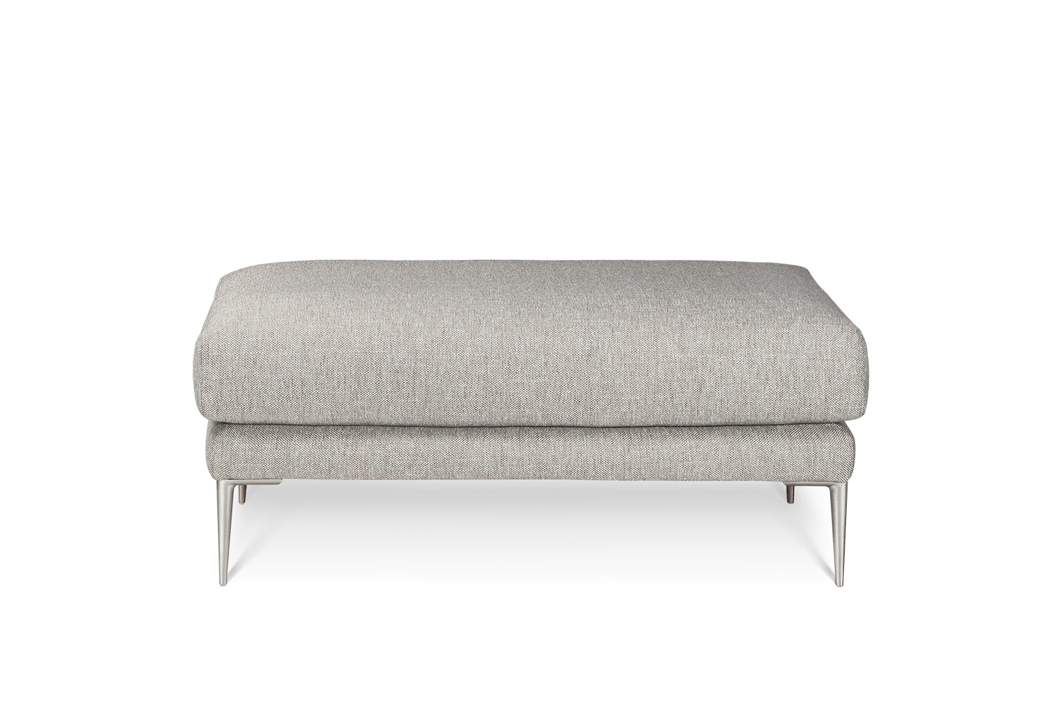 In picture Lorenzo Jumbo footstool; fabric: Solution 60; leg 15 Stainless Steel.