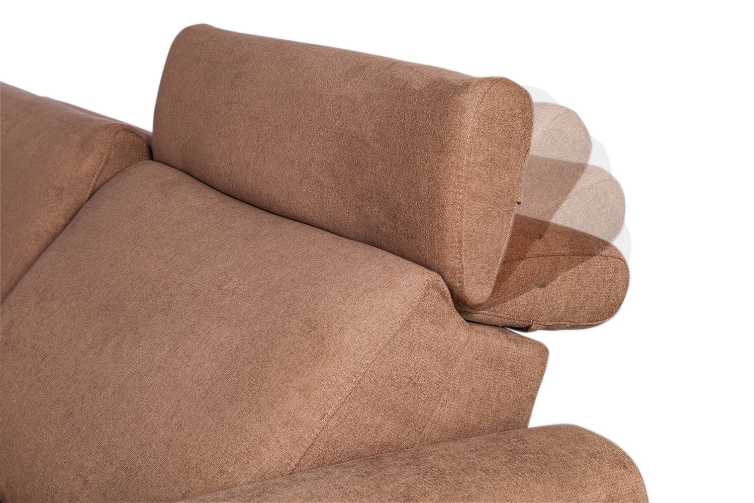 In picture: Hilton Combination A detail: headrest different positions.