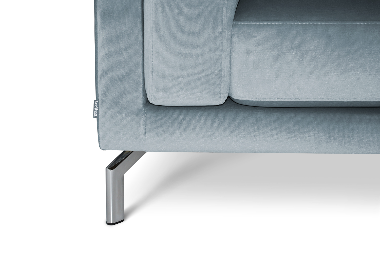 In picture Manhattan 3 Div; fabric: Juke 149; Leg 83 Stainless Steel (detail picture).