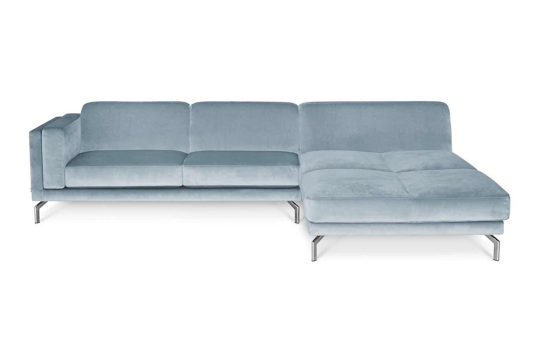 In picture Manhattan 3 Div; fabric: Juke 149; Leg 83 Stainless Steel.
