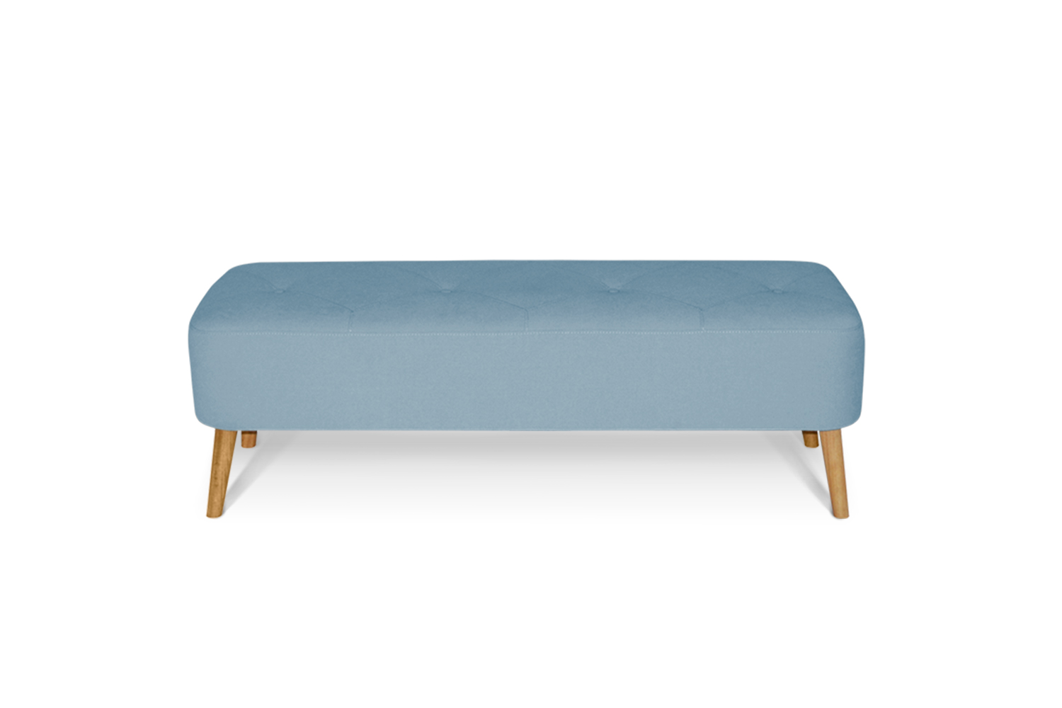 In picture Bench Superior with fabric Delta 5142, Leg 100 Oak.