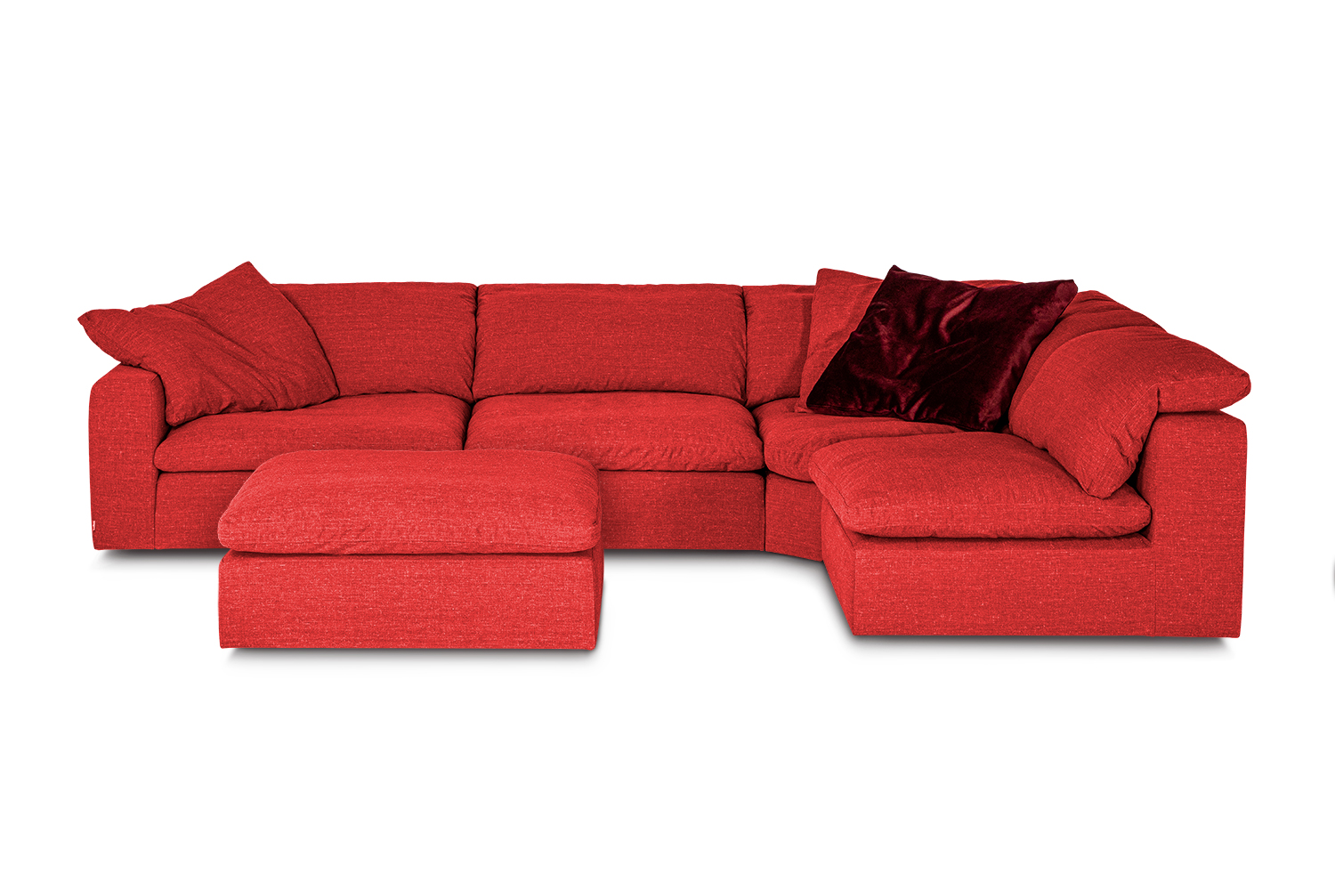 In picture Tribeca A11E1 Fabric Sahara8200 with footstool