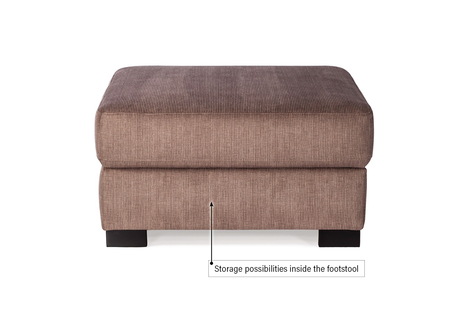 In picture: Footstool Magnum. Fabric: Hombre 5310.