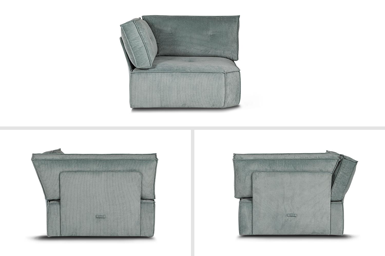 In picture: Levi Corner. Fabric: Wave 150.