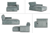 In picture: Levi module Div with armrest. Fabric: Wave 150.