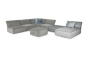 Boni 11C1LoungerDiv with footstool. Fabrics: mixed