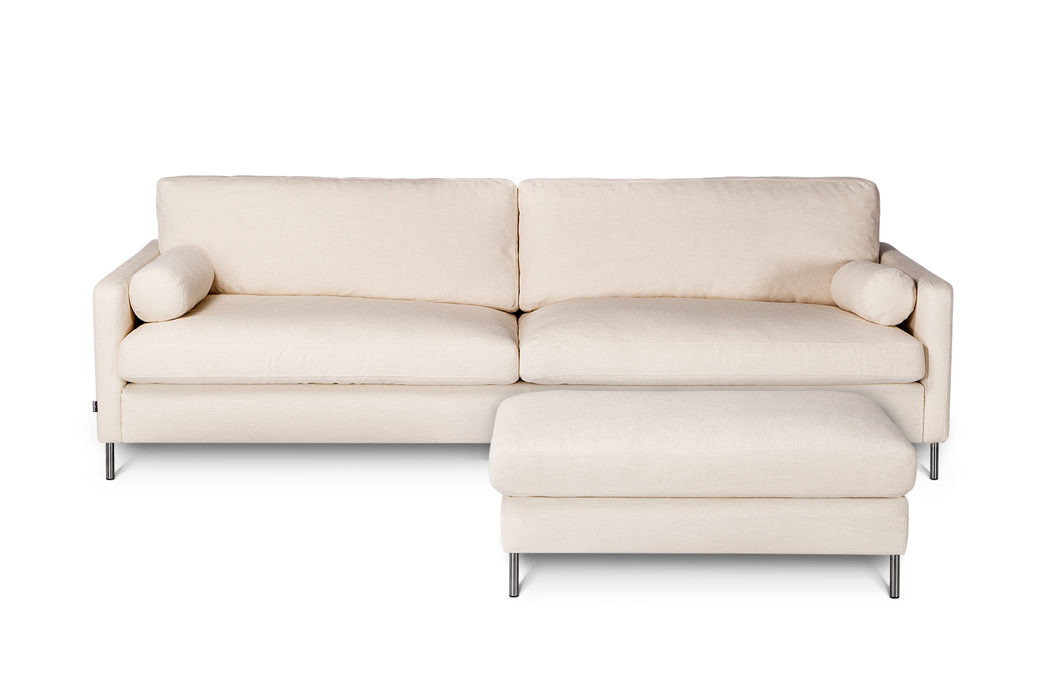 In picture: Colorado 4 with footstool. Fabric: Bronco 5208. Leg 48, stainless steel.