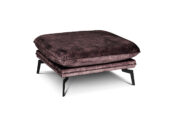 In picture: Style Footstool 80x80 cm. Fabric: Adore 68. Leg: 122 matte black.