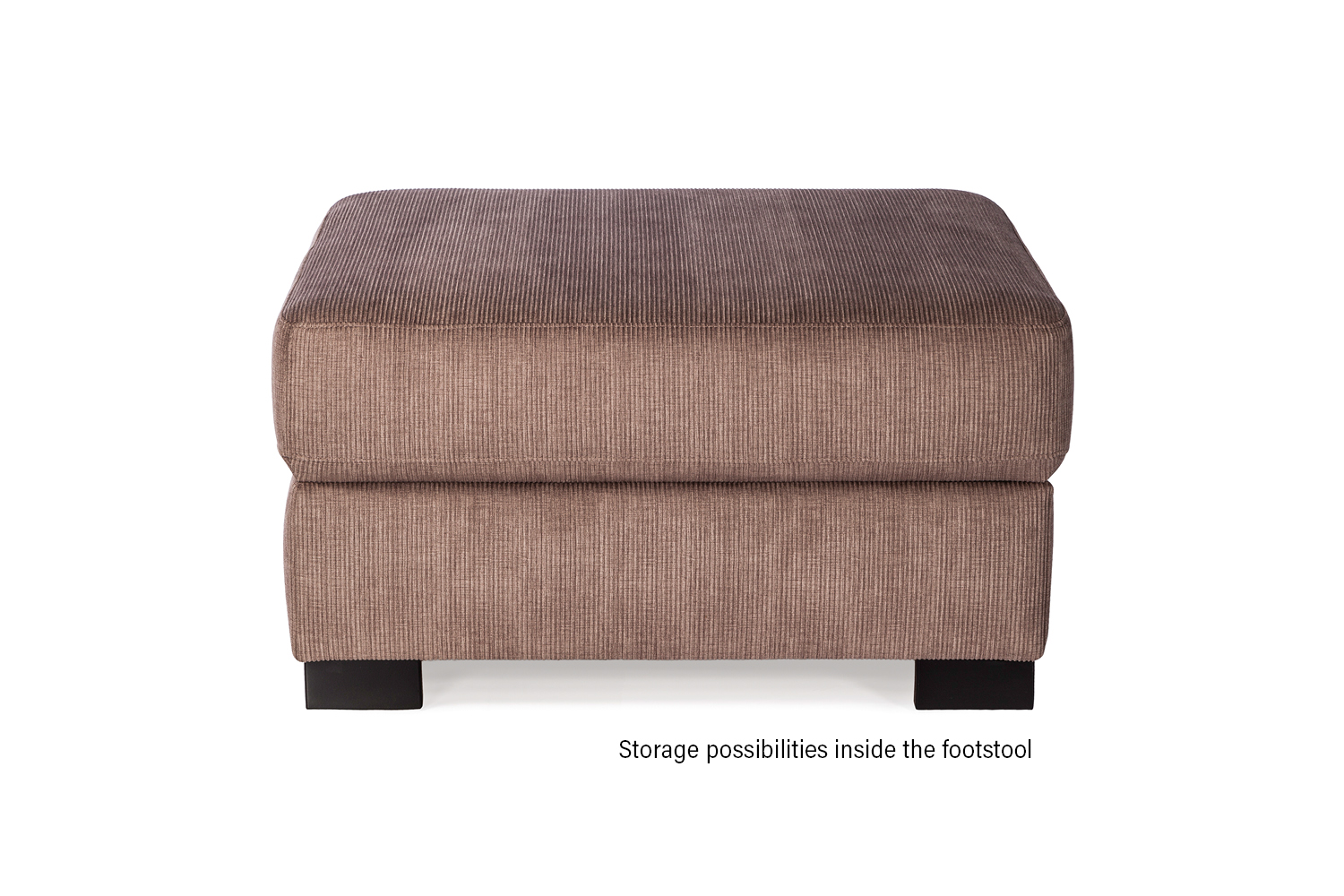 In picture: Footstool Magnum. Fabric: Hombre5310.