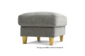 In picture: Footstool Standard. Fabric: Kiss 17.
