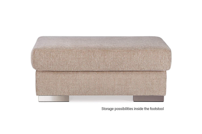 In picture: Footstool Jumbo. Fabric: Murano51001.