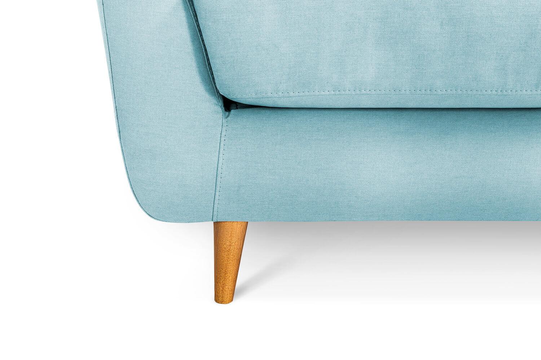 In picture: Blaze 3 LC detail. Fabric: Delta 5142. Leg: 50, oak.